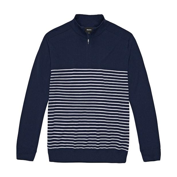 Extrafine Merino Knitted Zip Top - Night Sky