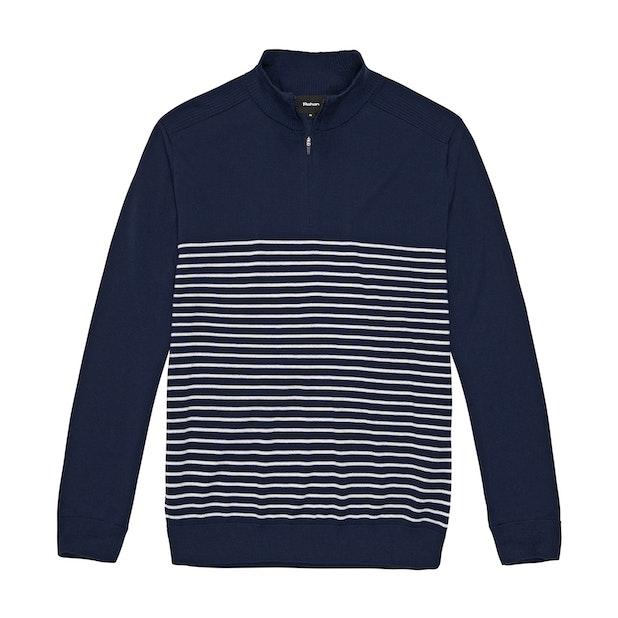 Extrafine Merino Knitted Zip Top - Classic, 100% extrafine merino half-zip pullover.