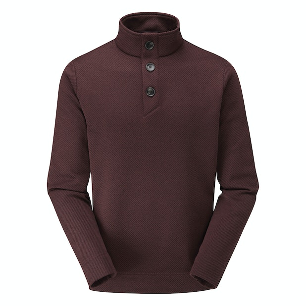 Shoreline Jumper - Mid-weight fleece jumper with buttoned neck opening.
