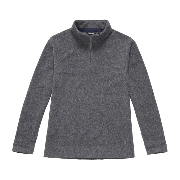 Lakeside Zip Top - Mid Grey Marl