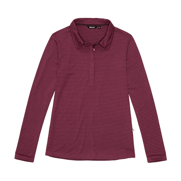 Stratum Polo - Cranberry Stripe