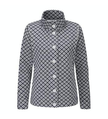 Very warm, easycare wool-like button down jacket.