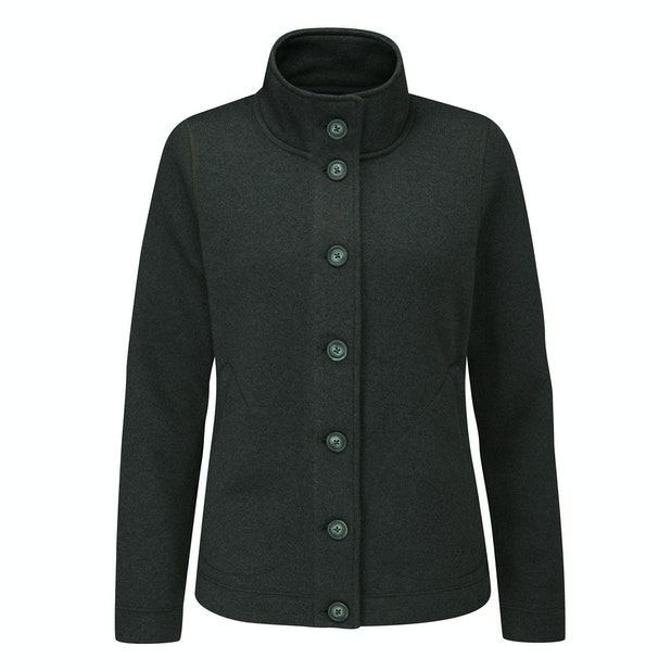 Finnic Cardi - Very warm, easycare wool-like button down jacket.