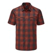 View Equator Shirt - Pimento Orange Check