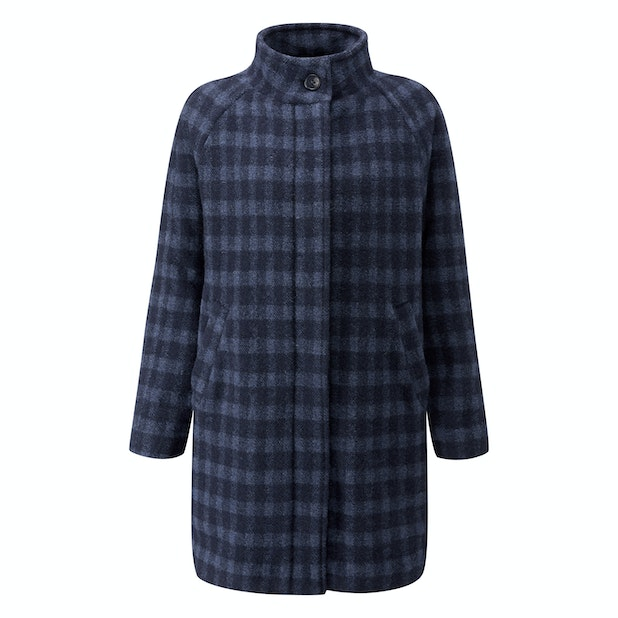 Cold Harbour Coat - Technical, machine washable, wool-blend coat.