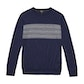 Viewing Extrafine Merino Knitted Fair Isle Crew - French Blue Marl