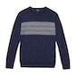 Viewing Extrafine Merino Knitted Fair Isle Crew - Classic crew-neck jumper in super soft extrafine merino.