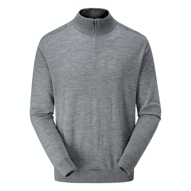 Extrafine Merino Zip Top - Classic, 100% merino zip-necked pullover.