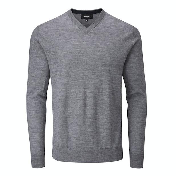 Extrafine Merino Knitted V Neck - Classic, 100% merino v-neck pullover.