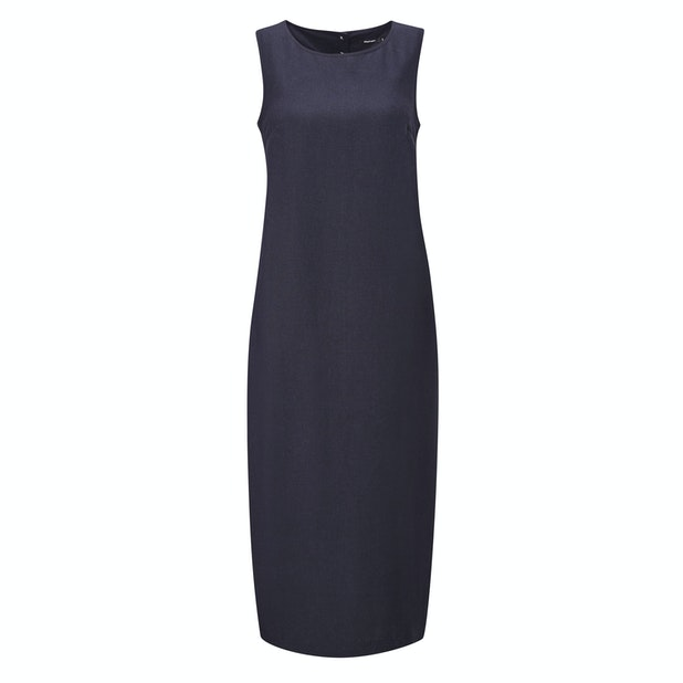 Malay Maxi Dress - Linen-blend, crease resistant travel dress.