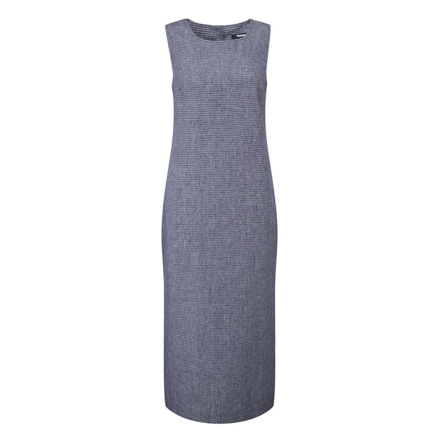 Malay Maxi Dress - Linen-blend, crease resistant travel dress.