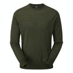 View Extrafine Merino Knitted Crew - Grizedale Green Marl