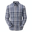 View Fenland Shirt - Moonlight Blue/Port Red Check