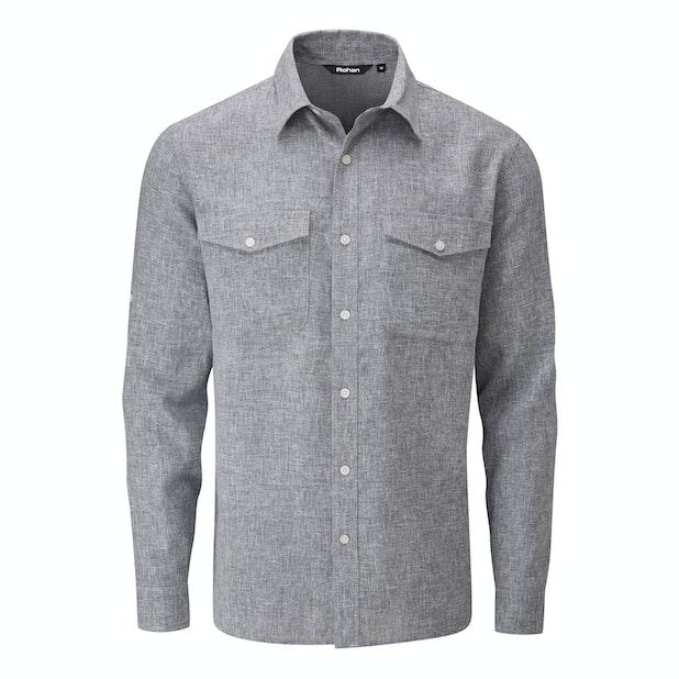 Maroc Shirt - Crease resistant, linen-blend shirt.