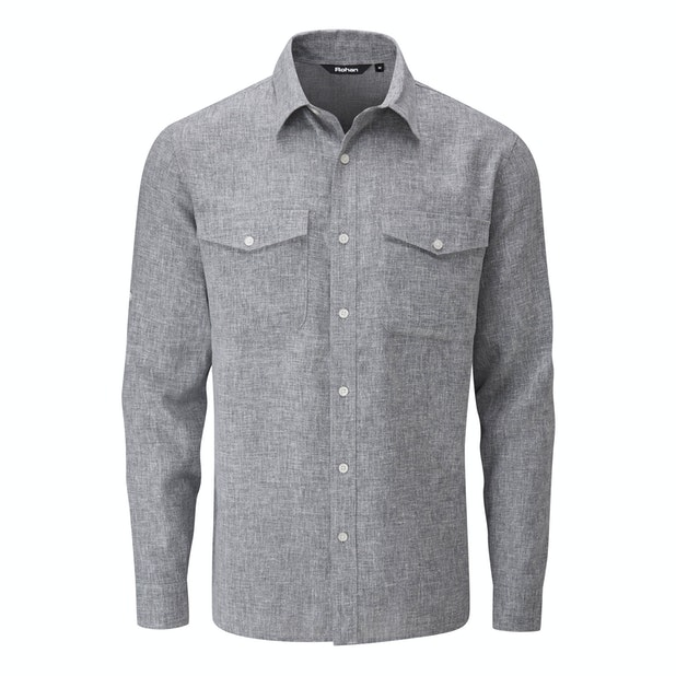 Maroc Shirt - Crease resistant, linen-blend shirt.