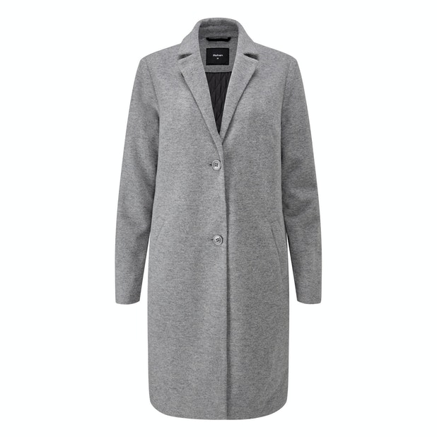 Islay Coat - Wadded premium Italian wool blend washable coat.