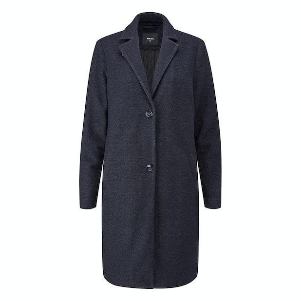 Islay Coat - Wadded premium Italian wool blend washable coat.