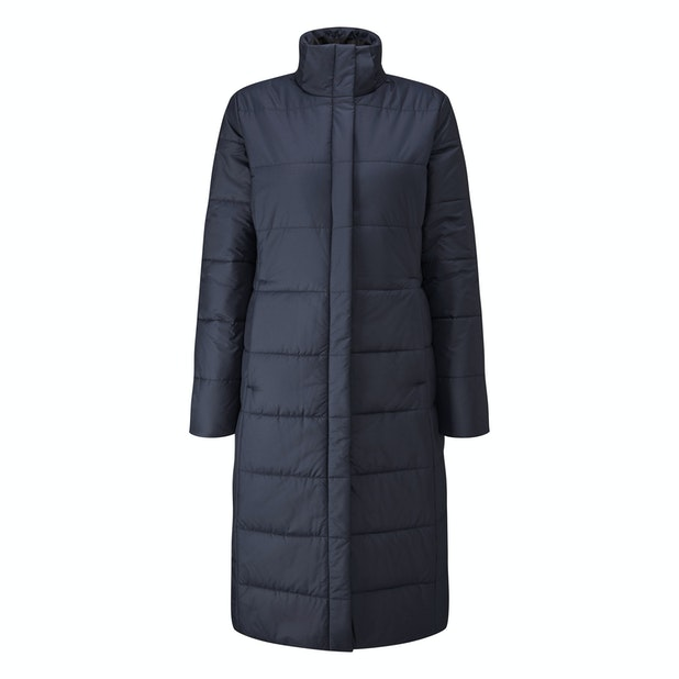 Cocoon Coat Long - Longer length insulated, water-repellent coat for cold conditions.