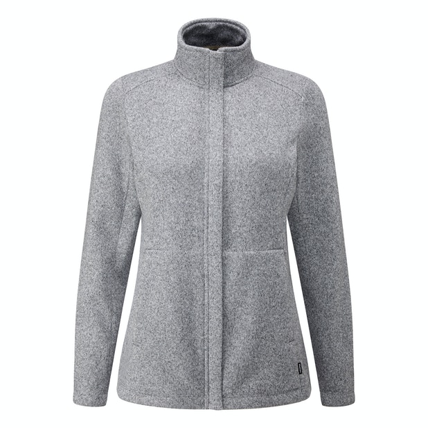 Pathway Jacket - Technical knit effect fleece cardigan.