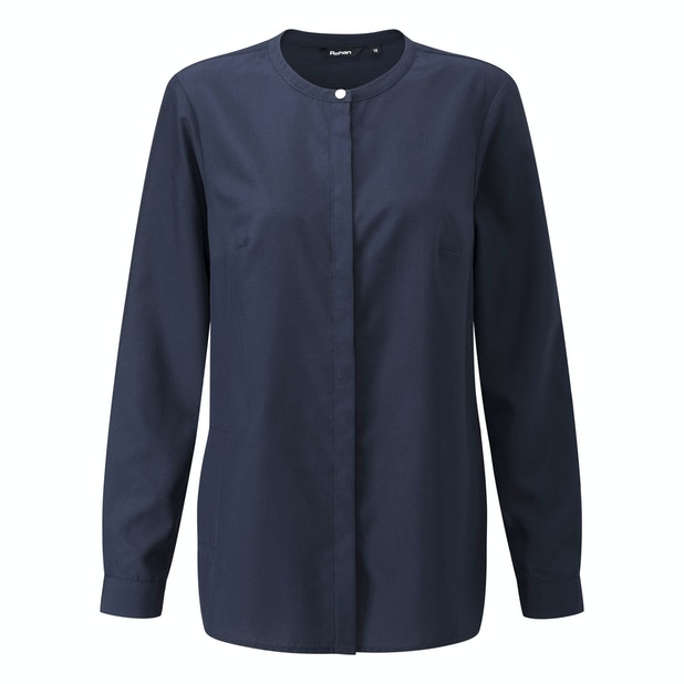 District Shirt - Classic collarless travel shirt.