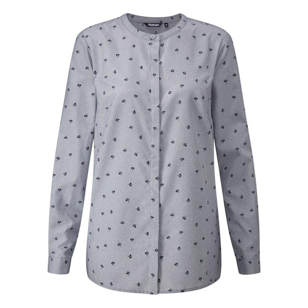 District Shirt - Classic collarless travel shirt.