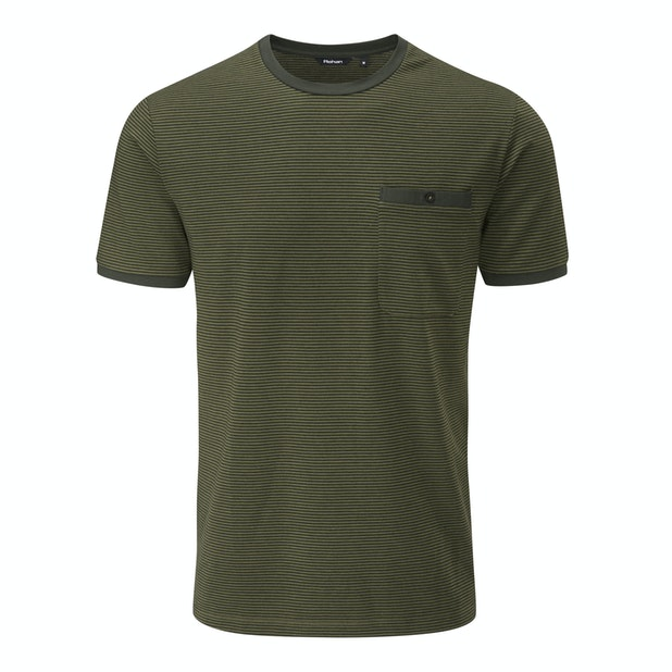 Stria Pocket T - Technical, cotton-feel short sleeve T-shirt.