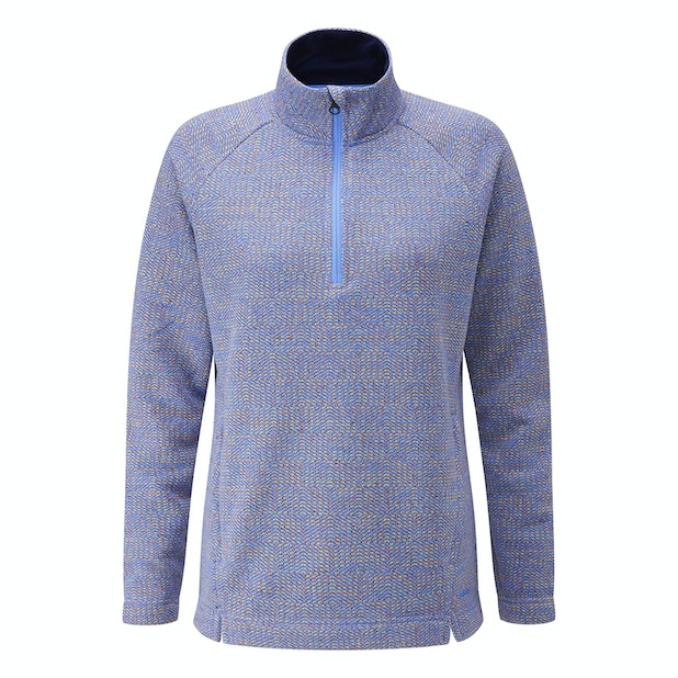 Quayside Zip Jumper - Relaxed, casual fleece with a half-zip opening.