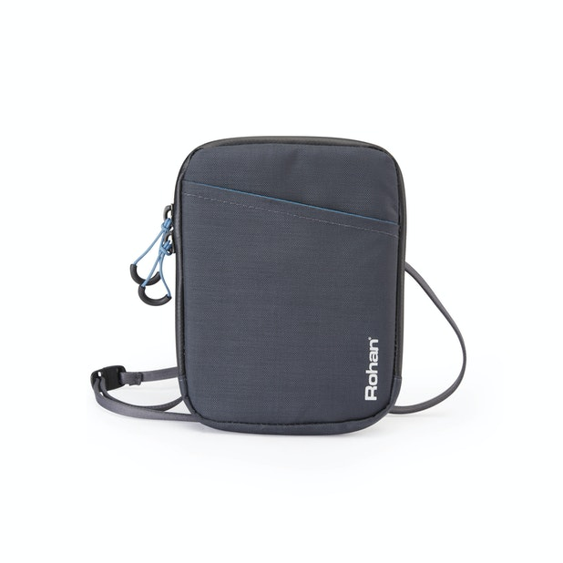 RFID Protected Document Neck Pouch - Protective travel neck pouch.