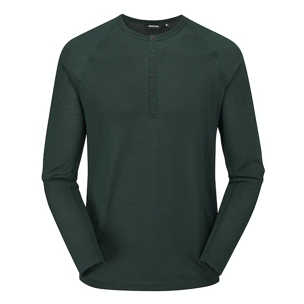 Merino Union 150 Henley  - Merino blend technical base layer.