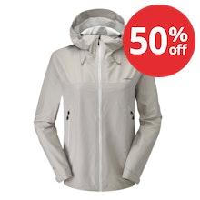 Lightweight, stretch outdoor waterproof.
