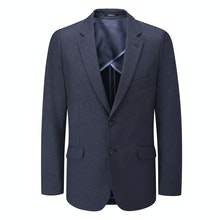 Ultra-crease resistant, technical travel suit jacket.