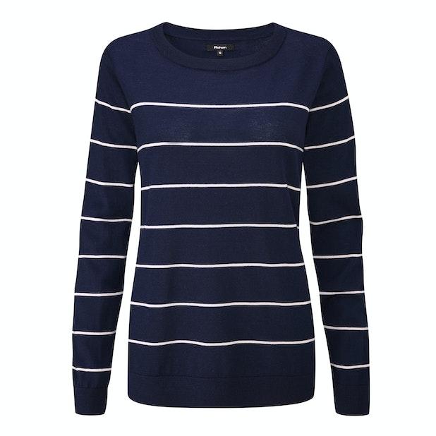 Extrafine Merino Knitted Crew - Classic, 100% merino crew-neck pullover.