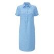 Viewing Malay Shirt Dress - Relaxed fit linen-blend dress.