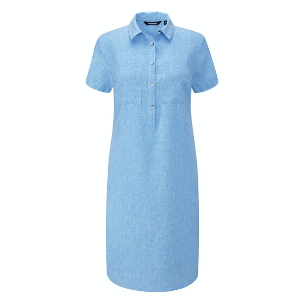 Malay Shirt Dress - Relaxed fit linen-blend shirt dress.