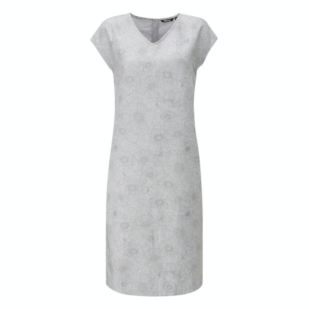 Malay Dress  - Relaxed fit linen-blend dress.