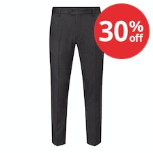 Ultra-crease resistant, technical travel suit trousers.