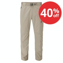 Insect repellent, convertible, stretch trekking trousers.