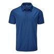 View Core Silver Polo - Pacific Blue