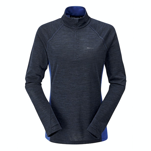 Merino Union 150 Zip Neck  - Highly breathable active wear top.