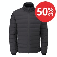Down jacket with excellent warmth to weight ratio.