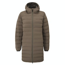 Technical down coat with urban style and excellent warmth.