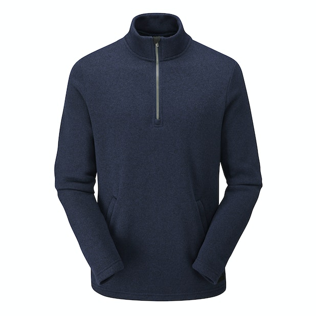 Carrig Zip Neck - Relaxed fit, low maintenance wool-like zip neck.