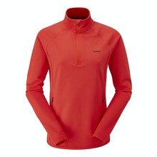 Super-soft brushed back, technical mid-layer top.
