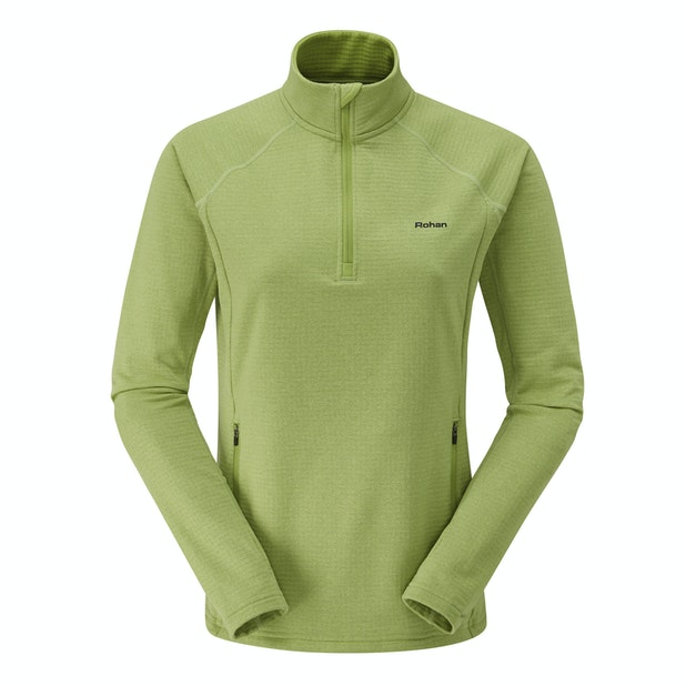 Latitude Zip Neck Top - Super-soft brushed back, technical mid-layer top.