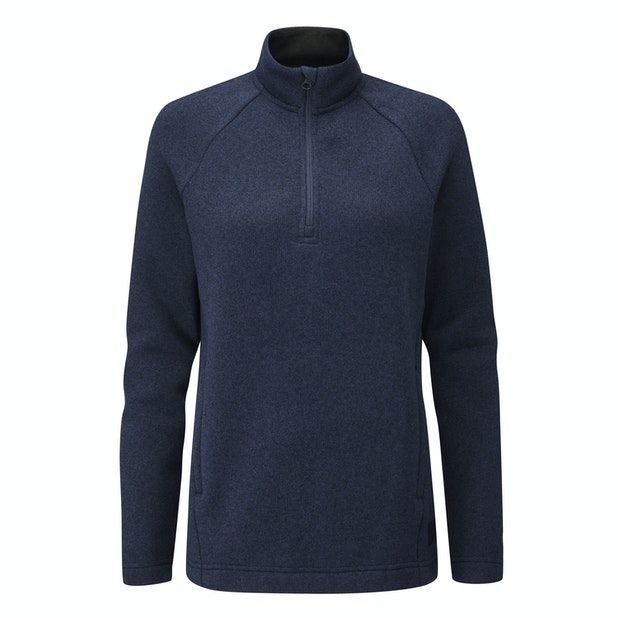 Finnic Zip Neck Top  - Very warm, easycare wool-like zip-neck top.