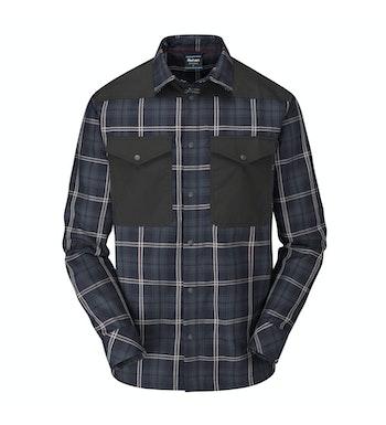 Hudson Shirt LS Men's, True Navy/Garnet Red Check