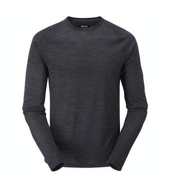 High-wicking, temperature regulating base layer crew.