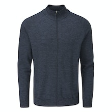 Versatile zip jacket made with Merino Fusion yarn.