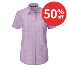 Soft, stretchy short-sleeved shirt for trekking and hillwalking.