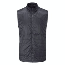 Ultra compact insulated vest for core warmth.